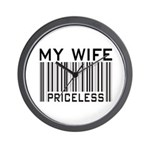 My Wife Priceless Barcode Wall Clock
