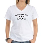 Property of Dog Women's V-Neck T-Shirt