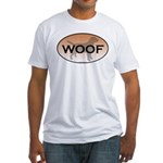Labrador Woof Fitted T-Shirt