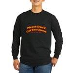 Cut the Cheese Long Sleeve Black T-Shirt
