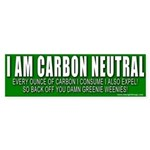 I Am Carbon Neutral Bumper Sticker