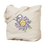 Happy Mother's Day Purple Flower Tote Bag