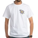 Happy Mother's Day Purple Flower White T-Shirt