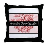Pink Toile World's Best Mother Mom Throw Pillow