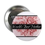 """Pink Toile World's Best Mother Mom 2.25"""" Button (1"""