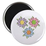 "Pretty Mother's Day Cartoon Flowers 2.25"" Magnet ("