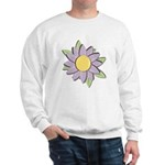 Purple Cartoon Flower Spring Sweatshirt