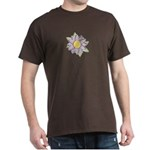 Purple Cartoon Flower Spring Dark T-Shirt