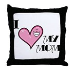 I Love Heart My Mom Mother's Day Throw Pillow