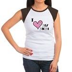 I Love Heart My Mom Mother's Day Women's Cap Sleev