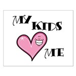 My Kids Love Heart Me Mom Teacher Small Poster
