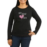 My Kids Love Heart Me Mom Teacher Women's Long Sle