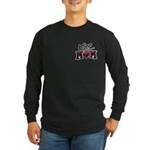 Uber Mom Mother's Day Heart Long Sleeve Dark T-Shi