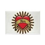Red Heart Tattoo Mom Mother Rectangle Magnet (10 p