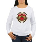 Red Heart Tattoo Mom Mother Women's Long Sleeve T-