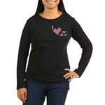 I Love Heart My Mom Mother's Pink Women's Long Sle