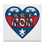 Heart Wonder Mom Mother's Tile Coaster