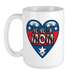 Heart Wonder Mom Mother's Large Mug