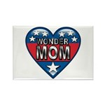 Heart Wonder Mom Mother's Rectangle Magnet