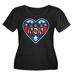 Heart Wonder Mom Mother's Women's Plus Size Scoop