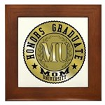 Mom University Honors Graduate Framed Tile