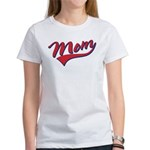 Baseball Style Swoosh Mom Women's T-Shirt