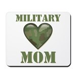 Military Mom Camouflage Camo Heart Mousepad