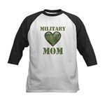 Military Mom Camouflage Camo Heart Kids Baseball J