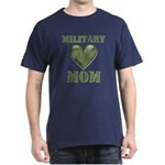 Military Mom Camouflage Camo Heart Dark T-Shirt