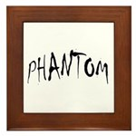 Phantom Halloween Framed Tile