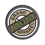 Mom Name Brand Apparel Logo Wall Clock