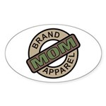 Mom Name Brand Apparel Logo Oval Sticker