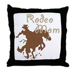 Rodeo Mom Wester Cowboy Cowgirl Throw Pillow