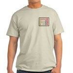 Mother Plaque with Hearts Mother's Light T-Shirt