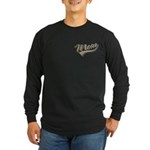 Baseball Swoosh Mom Mother's Long Sleeve Dark T-Sh