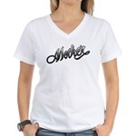 Mother Tattoo Art Text Women's V-Neck T-Shirt