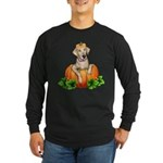 Yellow Labr-O-Lantern Long Sleeve Dark T-Shirt