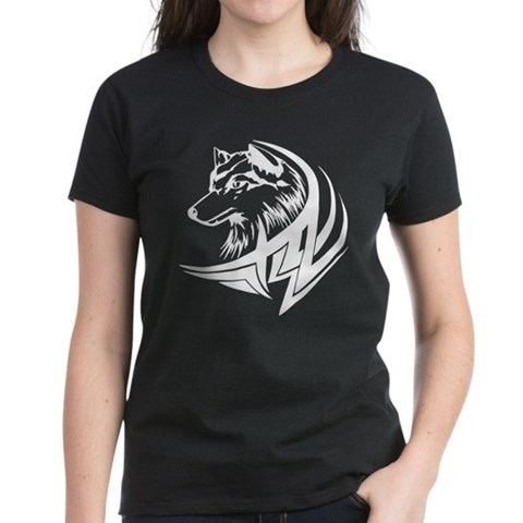 CafePress > T-shirts > Tribal Wolf Tattoo Tee. Tribal Wolf Tattoo Tee