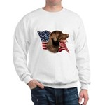 Chocolate Lab Flag Sweatshirt