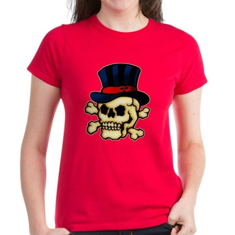 CafePress gt; T-shirts gt; Skull in Top Hat Tattoo Art Tee. Skull in Top Hat Tattoo Art Tee