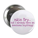 """My BoyFriend is Awesome 2.25"""" Button (10 pack)"""