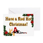 """Red Hot Christmas"" Greeting Cards (10 Pk)"