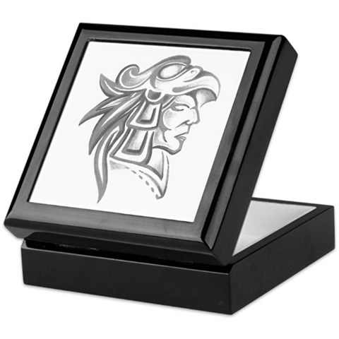 Aztec Tattoo Keepsake Box