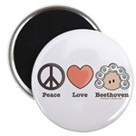 Peace Love Heart Beethoven Magnet (100 pack)