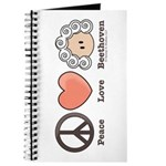 Peace Love Beethoven Music Notebook Journal Sketch