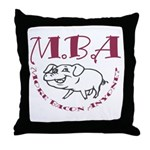 MBA Bacon Pig Throw Pillow
