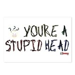 You're a Stupid Head (w/picture) Postcards (Packag