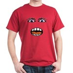 Shocked Cartoon Face Dark T-Shirt
