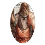 Plato Education: Oval Sticker
