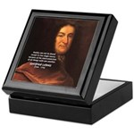 Gottfried Leibniz Metaphysics Keepsake Box